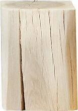 Jan Kurtz - Block Hocker eckig 29 x 29 x 40 cm, Kernesche massiv