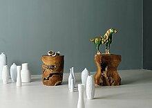 Jan Kurtz Block Hocker, Teak, braun, 30x30x40