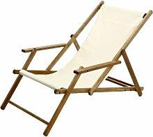 Jan Kurtz Deckchair Natur Strandstuhl Teak Holz