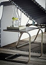 Jan Kurtz Fiam Club schwarz 40cm Alu- Beistelltisch jk team in&outdoor Samba Amigo Movida Amida Capri 492169 Terrasse, Garten, Sauna, Strand