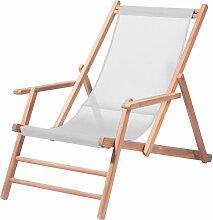 Jan Kurtz - Maxx Deckchair Teakholz, Bezug