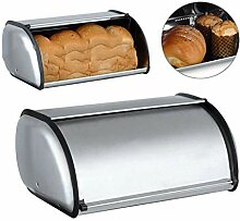 JANDH Brotbox mit Gehäuse aus Edelstahl Brotbox
