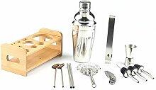 JANDH Cocktail Shaker Bar Set Zubehör Martini