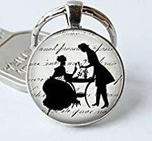 Jane Austen Schlüsselanhänger mit Stolz und