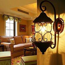 Jane European Retro Wandleuchte American Ländlichen Garten Eisen Wandleuchte Wohnzimmer Schlafzimmer Nachttisch Lampe Flur Gangleuchten