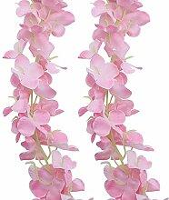 JaneYi 4 Stück 2M Künstliche Blumen Girlanden