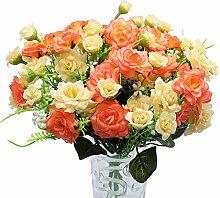 JaneYi 4 Stück Künstliche Rosenblüten
