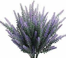 JaneYi 6 Stück Künstliche Lavendel Blume Pflanze