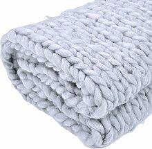 Jannyshop Handgefertigt Wolldecke Wolle Sticken