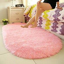 Janpanese Art Nachttisch Oval Teppich, Erker