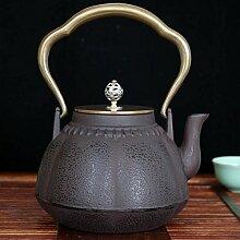 Japan Gusseiserner Topf Tee-Set Kupferabdeckung