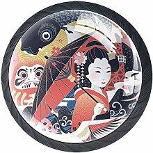 Japan-Konzept 4 Stück Schubladenknöpfe Kommode
