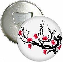 Japan Kultur rot schwarz Sakura Muster Rund