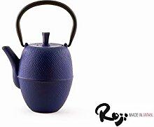 Japan Roji - Gusseisen Teekanne Hakeme 0,4 l blau