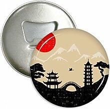 Japan schwarz weiß rot gelb tempel rund
