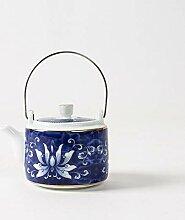 Japan Teekanne Keramik große vergoldete einzelne