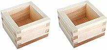 JapanBargain 2757x2, Holz Sake-Becher Masu