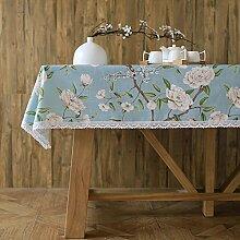 Japaner- garten blumen und vögel modern einfach tischtuch mahlzeit tisch kaffee tisch tuch staub-beweis-D 130*180cm(51x71inch)
