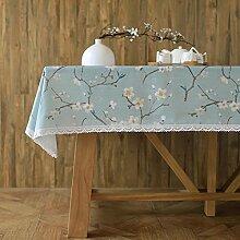 Japaner- garten blumen und vögel modern einfach tischtuch mahlzeit tisch kaffee tisch tuch staub-beweis-A 130*180cm(51x71inch)
