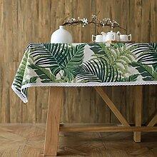 Japaner- garten blumen und vögel modern einfach tischtuch mahlzeit tisch kaffee tisch tuch staub-beweis-H 100x160cm(39x63inch)