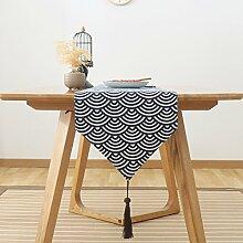 Japaner-style tisch läufer kreativ kaffee tischtuch qualitativ hochwertige möbel-A 31x160cm(12x63inch)