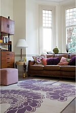 Japanese Floral Teppich in Lila von Knots Rugs