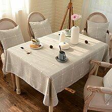 Japanese-Style aus Baumwolle und Leinen Tischdecken/Moderne karierten Tischdecke/Tischdecken/Tischdecke decke/Tuch/Rundtischdecken/ längliche Tischdecke-A 130x130cm(51x51inch)