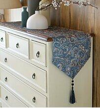 Japanese-style,Chinesische Art,Pastorale Tischläufer/Simple,Frisch,Blumen-tischfahne/Bett-runner-I 30x220cm(12x87inch)