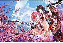 ⏰ Japanische Anime-Figuren 1500 Teile Holz