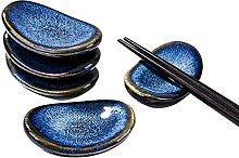 Japanische Antike Keramik Essstäbchenhalter Set