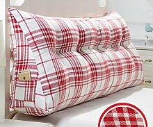 Japanische Baumwolle und Leinen doppelt dreieckige Kissen Matratze weichen Kissen Bett auf der Rückenlehne ( Farbe : 5# , größe : 20*50*135cm )