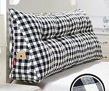 Japanische Baumwolle und Leinen doppelt dreieckige Kissen Matratze weichen Kissen Bett auf der Rückenlehne ( Farbe : 2# , größe : 20*50*150cm )