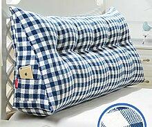 Japanische Baumwolle und Leinen doppelt dreieckige Kissen Matratze weichen Kissen Bett auf der Rückenlehne ( Farbe : 4# , größe : 20*50*135cm )