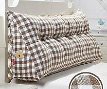 Japanische Baumwolle und Leinen doppelt dreieckige Kissen Matratze weichen Kissen Bett auf der Rückenlehne ( Farbe : 3# , größe : 20*50*120cm )