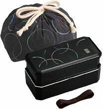 Japanische Bento-Lunchbox mit Riemen und