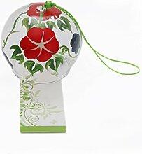 Japanische EDO Furin Handgefertigtes Glas Wind Chimes Morning Glory