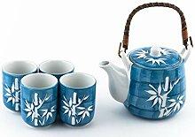Japanische Glückskatze Maneki Neko Tee-Set