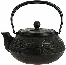 Japanische Gusseisen Teekanne Iwachu Gingko
