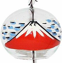 Japanische handgefertigt, Glas, Holz, mit Passepartout, Fuji, Malerei