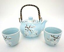 Japanische Kirschblüte Sakura Sky Blau Tee-Set