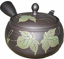 Japanische Kyusu Tokonam-Teekanne aus Ton,