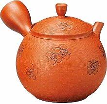 Japanische Kyusu Tokoname Teekanne aus Ton, 11,5