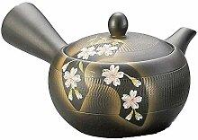 Japanische Kyusu Tokoname Teekanne aus Ton, 310