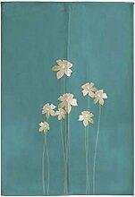 Japanische Noren Vorhang Ländlichen Stil Eingang Vorhang Tür Vorhang Blume