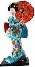 Japanische Puppen Geisha Mädchen Geiko Kimono Puppe Haus Dekoration Kunst Sammlung, # 18