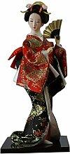 Japanische Puppen Geisha Mädchen Geiko Kimono Puppe Haus Dekoration Kunst Sammlung, # 07