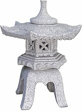 Japanische Steinlaterne Rokkaku Yukimi Höhe 45 cm