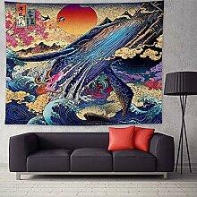 Japanische Stil Wandteppich Kanagawa Wal Welle