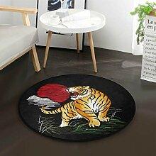 Japanische Sun Tiger Round Area Teppich für