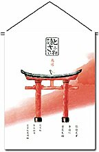 Japanische Sushi Bar Restaurant Kunst Flaggen Banner Innen Tür Tür Dekor, P107